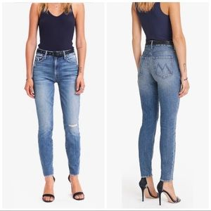 MOTHER The High Waisted Looker Ankle Jeans, 26
